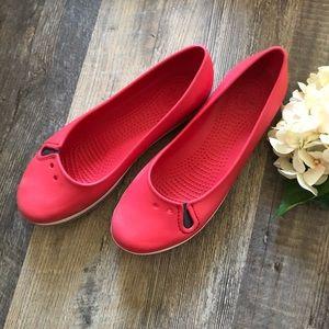 Crocs | Red Ballet Flats